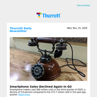 Smartphone Sales Declined Again in Q3
