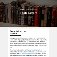 Book covers: Go ahead and judge