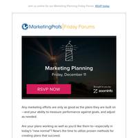 [Friday Forum] Marketing Planning