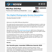 Digital Photography Review Newsletter: Thursday, November 26, 2020