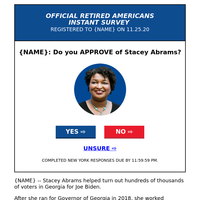 {NAME}'s opinion needed (re. Stacey Abrams)