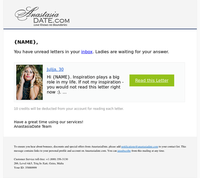 You have new messages on AnastasiaDate