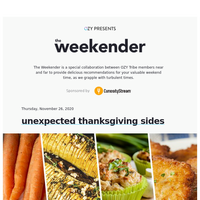 This Weekend: Want a New Thanksgiving Tradition?