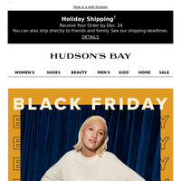The wait is over—BLACK FRIDAY's here