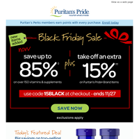 NEW DEALS Alert: Black Friday save up to 85% PLUS 15% off