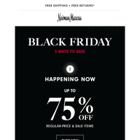 Black Friday! 75% off + $50 off (beauty, too!) + Luxe Brands Sale