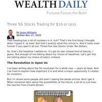 Three 5G Stocks Trading for $10 or Less