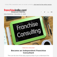 Become an Independent Franchise Consultant