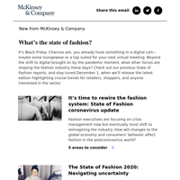 What's the state of fashion?