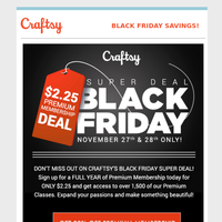 A Black Friday Deal so good you'll want to forward it to all your friends.