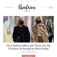 20 items our fashion editor is buying on Black Friday