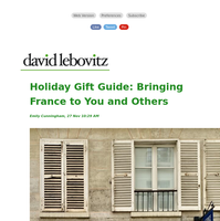 Holiday Gift Guide: Bringing France to You and Others