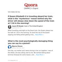 If Queen Elizabeth II is traveling aboard her train, what is the  \