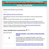 Health and Fitness for Saturday November 28, 2020
