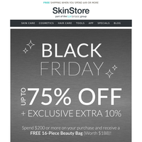 Up to 75% Off ✅ EXTRA 10% ✅ Free $188 Beauty Bag ✅