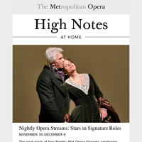High Notes at Home: Nightly Opera Streams, Met Stars Live in Concert, and More