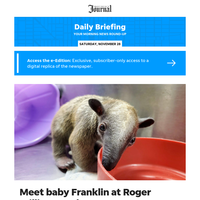 Daily Briefing: Meet baby Franklin, Roger Williams Park Zoo's youngest addition