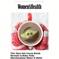 This New Hot Cocoa Bomb Reveals A Baby Yoda Marshmallow When It Melts