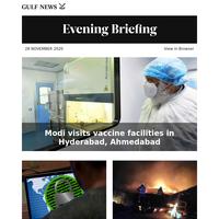 Modi visits vaccine facilities in Hyderabad, Ahmedabad