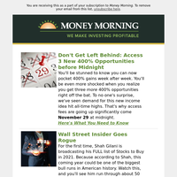 Money Morning's weekly round up