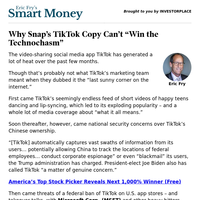 "Smart Money: Why Snap's TikTok Copy Can't ""Win the Technochasm"""