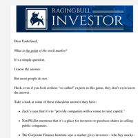 The Most Important Question Any Investor Should Ask