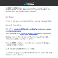 Tip of the Day 👉 New IPO targeted by the billionaire behind Google and Amazon