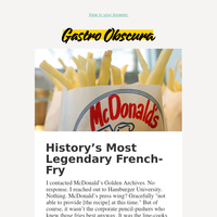 We revived the original McDonald's french-fry