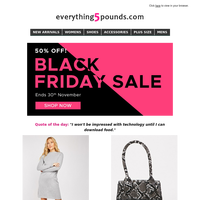 Black Friday sale continues ⇨