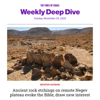 ToI's weekly deep dive: Visit Negev 'Burning bush' * Thanksgiving with a side of Hebrew * 1st insulin pills * WATCH: ToI panel talks US election s * Tiny Temple Mount gold