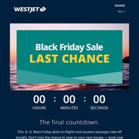Black Friday savings depart at midnight
