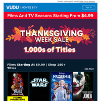 Last Chance   Your Thanksgiving Week Sale