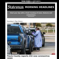 Travis County reports 232 new coronavirus cases