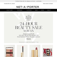 24 hours only – shop 15% off beauty