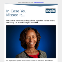 Watch the video recording of the Speaker Series event featuring Dr. Marian Rogers Croak
