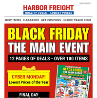 CYBER MONDAY + Final Day of Black Friday Main Event