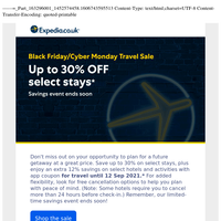 Black Friday/Cyber Monday Travel Sale ends soon! Don't miss the savings