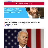 Biden's Decision Just BACKFIRED - He Made A Mistake...