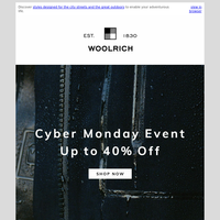Cyber Monday: Explore Up to 40% Off Select Styles