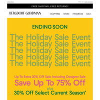 Ending Soon: The Holiday Sale
