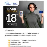 🔥 ÚLTIMO DÍA de Black Friday 🔥 Club LN a $18/mes. 20% en Pedidos Ya. 15% en COTO. 12% en YPF ¡y mucho más!