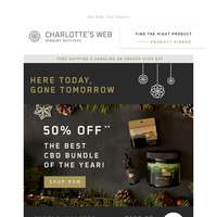 Don't wait: 50% off Cyber Monday special