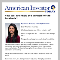 How Will We Know the Winners of the Pandemic?