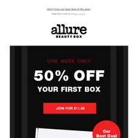 ✨CYBER MONDAY ONLY! 50% Off Allure Beauty Box PLUS 2 free gifts! ✨
