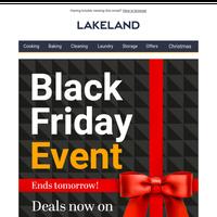 Black Friday deals end tomorrow!