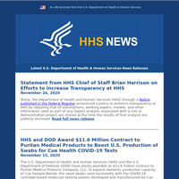 Here's What You Missed from HHS: November 29, 2020