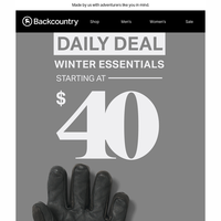 Daily Deal: Winter Essentials Starting at $40