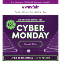 Cyber Monday: STARTS TODAY, ENDS TODAY