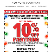 NOW! EXTRA 10% OFF All Our Lowest Prices!