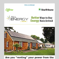 """Are you """"renting"""" your power from the utility company?"""